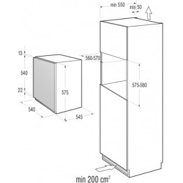 GORENJE Ugradbeni hladnjak RBI4061AW