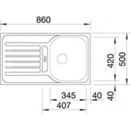 BLANCO sudoper BLANCOLANTOS 45 S - platno, sa daljinskim upravljačem