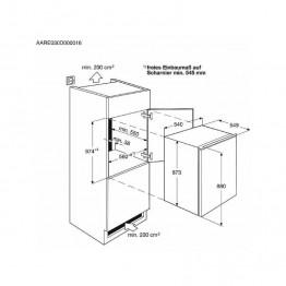 ZANUSSI Ugradbeni hladnjak ZBA14421SA
