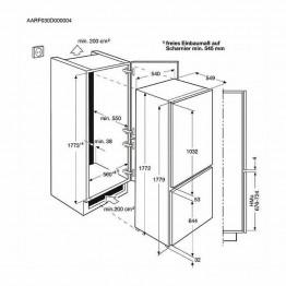 ZANUSSI Ugradbeni kombinirani hladnjak ZBB28441SA