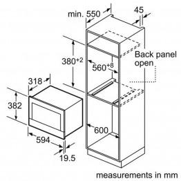 BOSCH Ugradbena mikrovalna pećnica BFR634GB1