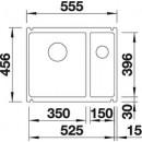 BLANCO Sudoper BLANCOSUBLINE 350/150-U