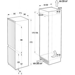 GORENJE Ugradbeni kombinirani hladnjak RKI4182E1
