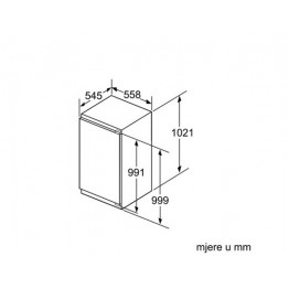 BOSCH Ugradbeni hladnjak  KIR31AF30