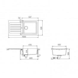 SCHOCK Sudoper TYPOS D-100L
