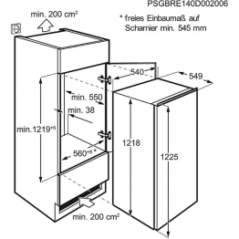 ELECTROLUX Ugradbeni hladnjak ERN2001BOW