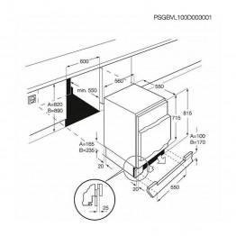 ELECTROLUX Ugradbeni hladnjak ERN1300AOW