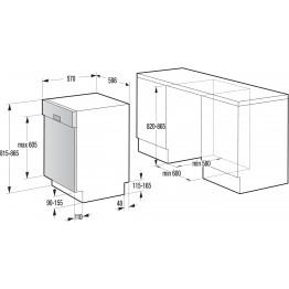 GORENJE Ugradbena perilica posuđa GI61010X